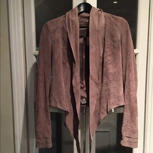BNWT Sandwich suede suit jacket and skirt set.